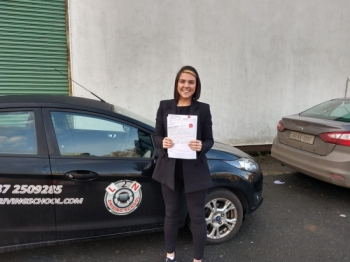 A big congratulations to Shauna Riordan on passing her test FIRST TIME today at the Castlemungret test centre. I taught Shauna how to drive over the last few months and it was great to see her drive with skill and confidence on the test and pass no bother. Great stuff Shauna, I´m very proud of you  Also congratulations to Shelly Reilly on passing her test first time yesterday, well done Shel